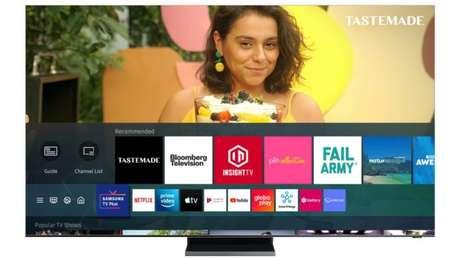 Samsung TV Plus tem IPTV com 20 canais grátis (Imagem: Divulgação/Samsung)