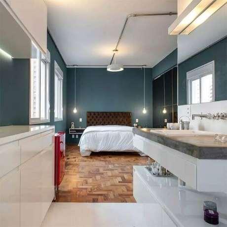 36. Elabore uma planta de quarto com suíte moderna e funcional. Fonte: Limaonágua