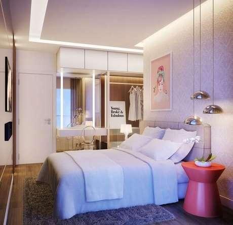 11. Projeto de quarto com suíte e closet. Fonte: Pinterest