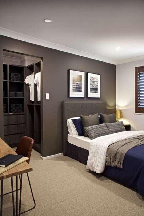 7. Tons sóbrios decoram esse quarto com suíte. Fonte: Clarendon Homes QLD