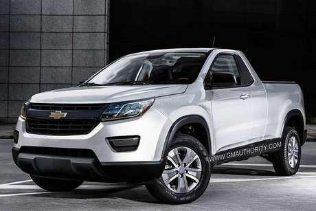 Projeção da Chevrolet Montana baseada na S10, feita com poucas informações.
