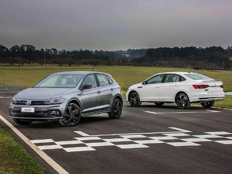 Polo e Virtus são fabricados na moderna plataforma MQB da Volkswagen.