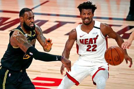 Miami Heat, que fez final da temporada passada com Lakers, passa por fase ruim na NBA 09/10/2020 Kim Klement-USA TODAY Sports