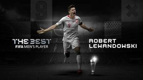 Lewandowski é o mais novo melhor jogador do mundo (Foto: Divulgação / Fifa)