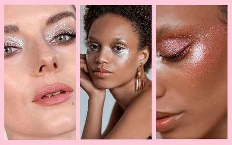 Maquiagem com glitter: 6 opções lindas para brilhar neste fim de ano
