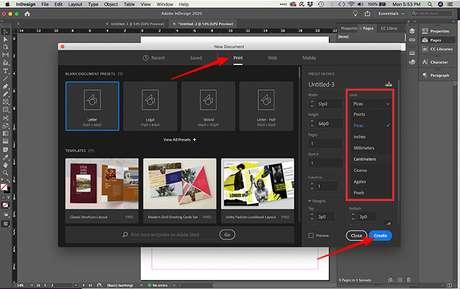 Criando tipo e formato de arquivo no InDesign. (Imagem: Reprodução/Adobe InDesign)