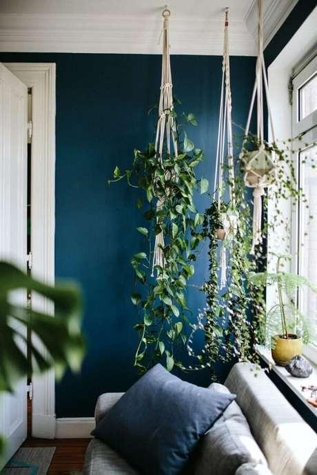 22. Otimizando espaço e invista em vasos para jardim suspenso. Fonte: Pinterest