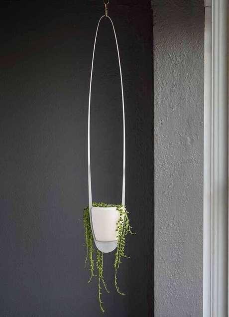 8. Suporte para vaso de planta suspenso cheio de design. Fonte: Pinterest