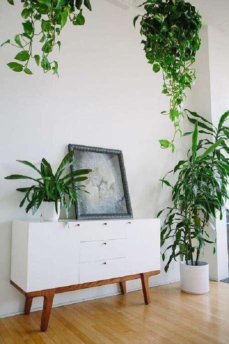 33. Vaso suspenso com planta jiboia pendente. Fonte: Pinterest