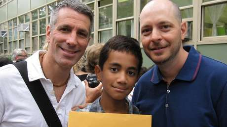 Registro da graduação de Kevin no ensino fundamental em 2011