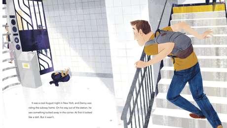 O livro infantil 'Our Subway Baby', de autoria de Peter e ilustrado por Leo Espinosa, conta a história de Kevin