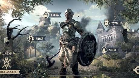 Em The Elder Scrolls: Blades, é precisorestaurar uma cidade devastada e cumprir várias missões