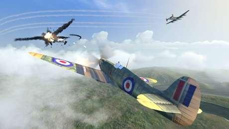 Em Warplanes: WW2 Dogfigh, você pode coletar e pilotar diferentes aviões e guerrear por outros países
