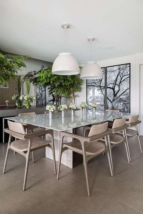14. Mesa para varanda gourmet de apartamento grande – Via: Casa de Valentina