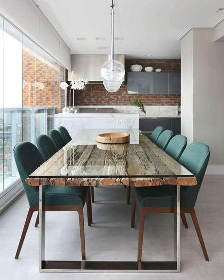 42. Mesa para varanda gourmet – Via: Dicas de Mulher