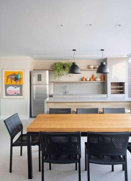 62. Mesa para varanda gourmet retangular – Via: Casa de Valentina