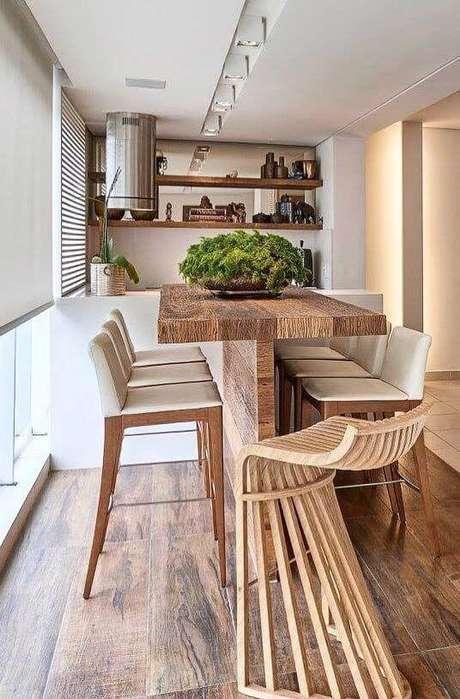 68. Mesa rustica para varanda gourmet – Via: Arkpad