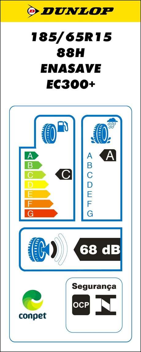 Exemplo de etiqueta de pneu fornecido pelo Inmetro: informações úteis para o comprador, por isso é importante saber ler a etiqueta.