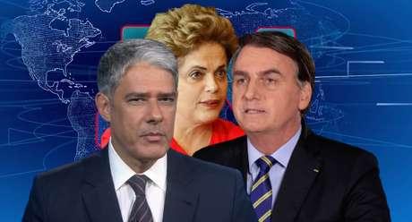 Contestação da violência contra Dilma na ditadura fez o 'JN' de Bonner expor desaprovação a Bolsonaro