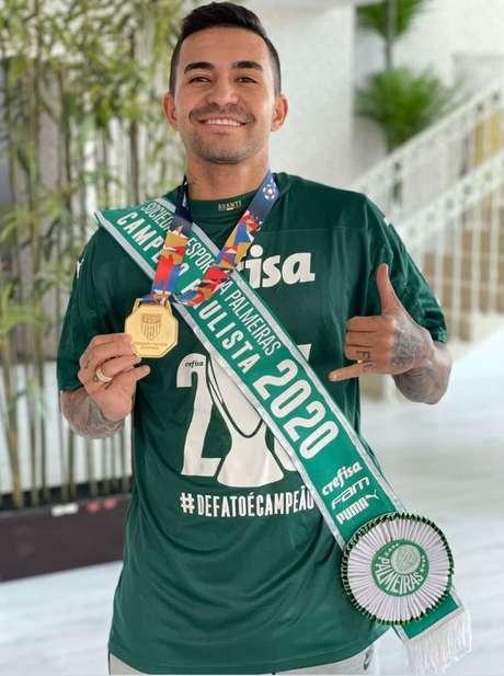 Dudu disputou oito partidas e marcou dois gols no Campeonato Paulista (Foto: Reprodução/Instagram)
