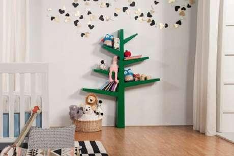 13. As prateleiras infantil para quarto podem assumir formatos inusitados. Fonte: Pinterest