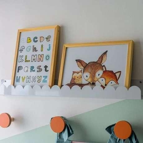 9. As prateleiras infantil para quarto são pura fofura. Fonte: Elefante Design Para Pequenos