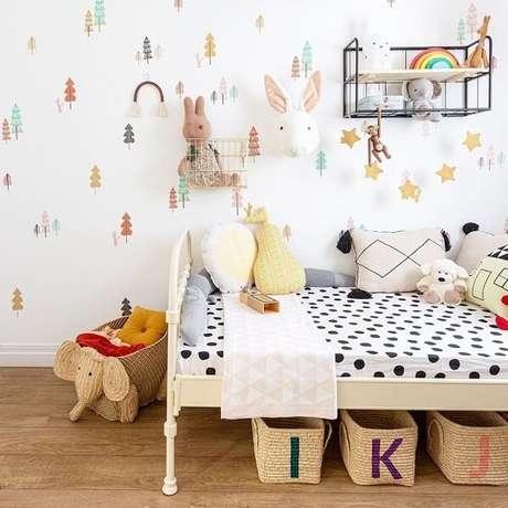 1. Ideias de prateleiras para quarto infantil com estilo industrial. Fonte: Mimoo Toys