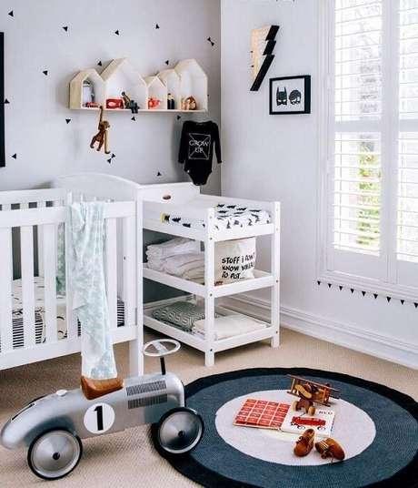 51. Prateleiras infantil para quarto com formatos lúdicos. Fonte: Pinterest