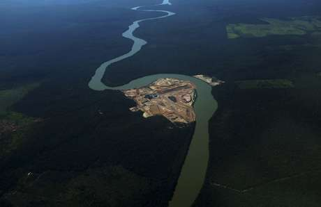 Vista aérea do Rio Teles Pires REUTERS/Nacho Doce