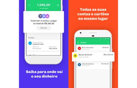 Organizze ajuda a controlar despesas (Imagem: Divulgação/Guiabolso)