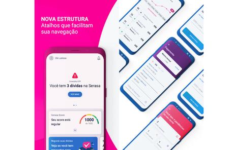 App Serasa permite monitorar score de crédito (Imagem: Divulgação/Serasa)