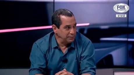 O ex-jogador Zinho é comentarista do Grupo Disney (Foto: Reprodução/Fox Sports)