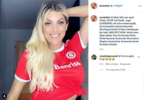 Renata Fan comemora mais uma vitória no Instagram(Reprodução/Instagram Renata Fan)