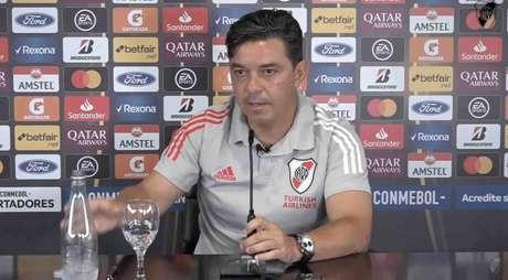 Marcello Gallardo durante a entrevista coletiva (Foto: Reprodução/YouTube)