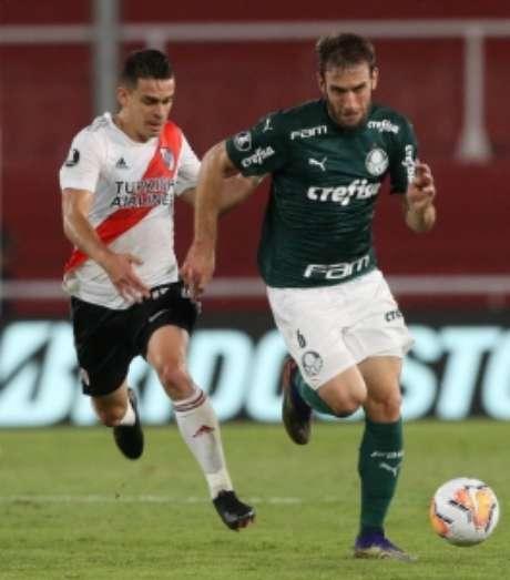 Alan Empereur teve que substituir Luan de última hora contra o River Plate na partida de ida (Foto: Cesar Greco/Palmeiras)