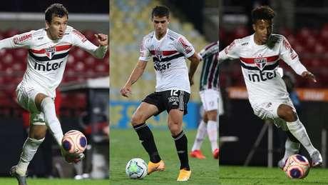 Substitutos de Luciano não vivem grande fase no São Paulo (Foto: Rubens Chiri / São Paulo)