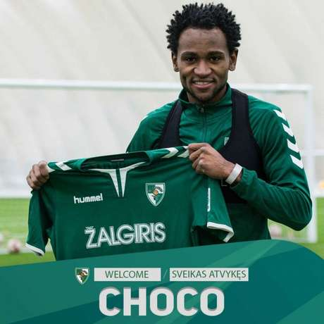 Choco foi anunciado pelo FK Kauno Zalgiris (Foto: Divulgação)