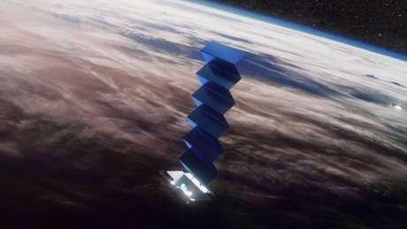 Satélite Starlink, da SpaceX (imagem: divulgação/SpaceX)