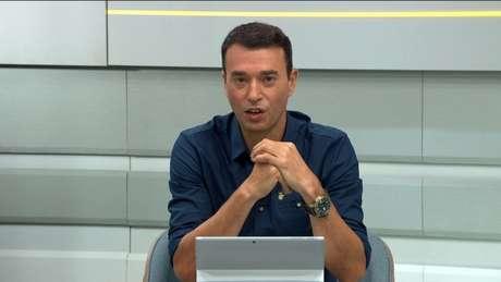 André Rizek apresentando o Seleção SporTV (Reprodução/SporTV)