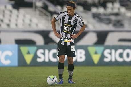 Honda saiu do Botafogo em comum acordo com a diretoria (Foto: Vítor Silva/Botafogo)