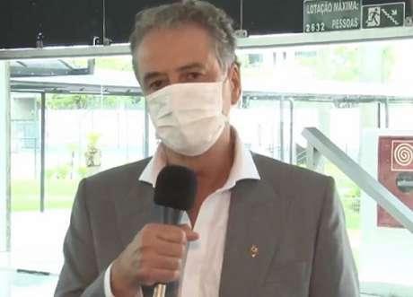 Sérgio Coelho está com o novo coronavírus, mas está sem sintomas e se recupera em casa-(Reprodução/TV Galo)