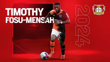 Fosu-Mensah foi anunciado pelo Leverkusen (Foto: Divulgação/Bayer Leverkusen)