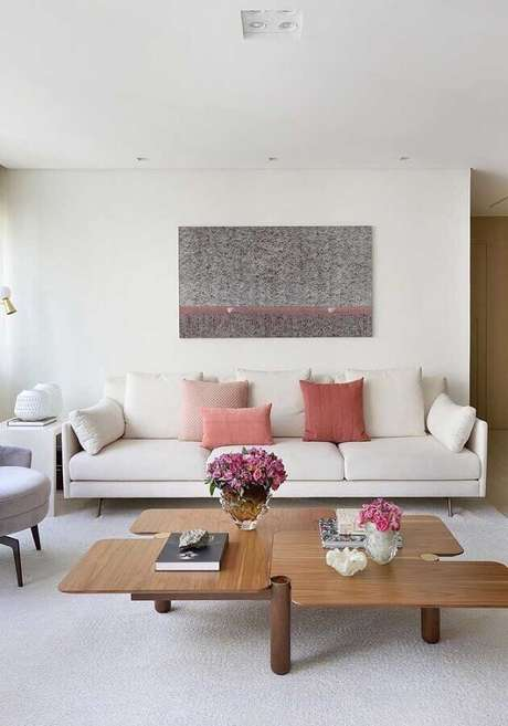 1. Cores claras transmitem sensação de leveza e calma nos espaços decorados – Foto: Architecture Art Designs