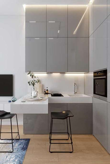27. Cores claras são ótimas para decorar ambientes pequenos – Foto: Home Fashion Trend