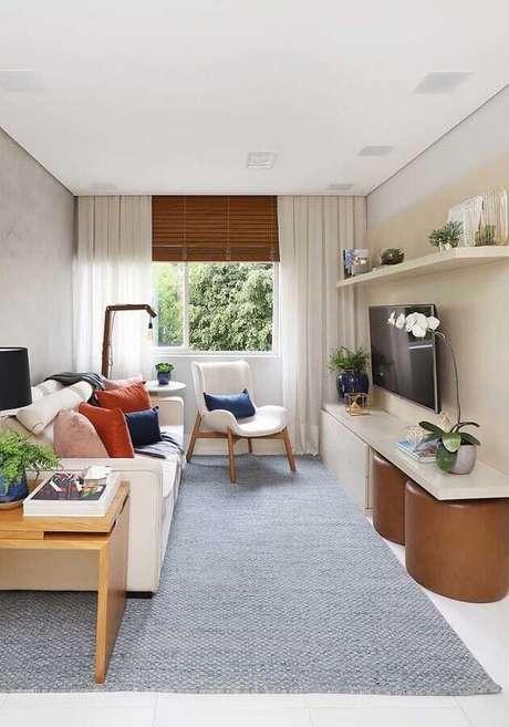 53. Coloque pontos de cor vibrante em ambientes decorados em cores neutras e claras – Foto: Architecture Art Designs