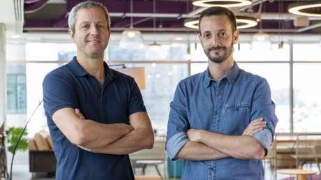 Fernando Miranda, CEO da Easynvest, e Felipe Sotto-Maior, CEO da Vérios