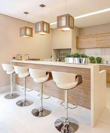 66. Cor bege claro para decoração de varanda gourmet – Foto: IT Decor