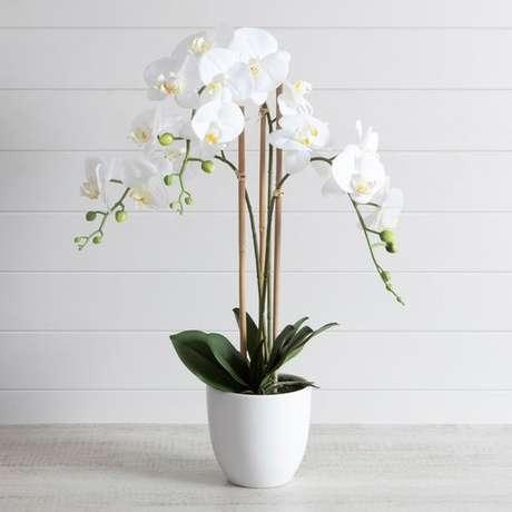 19. Vaso branco para orquídea – Via: Pillow Talk