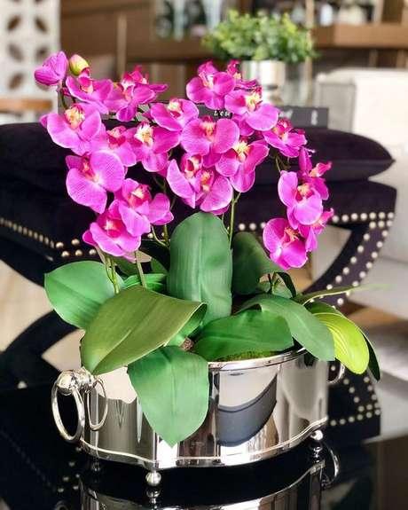 31. Vaso para orquídea pink – Via: Pinterest