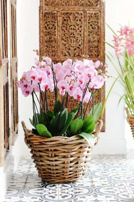 35. Vaso de orquídea rustico – Via: My Domaine